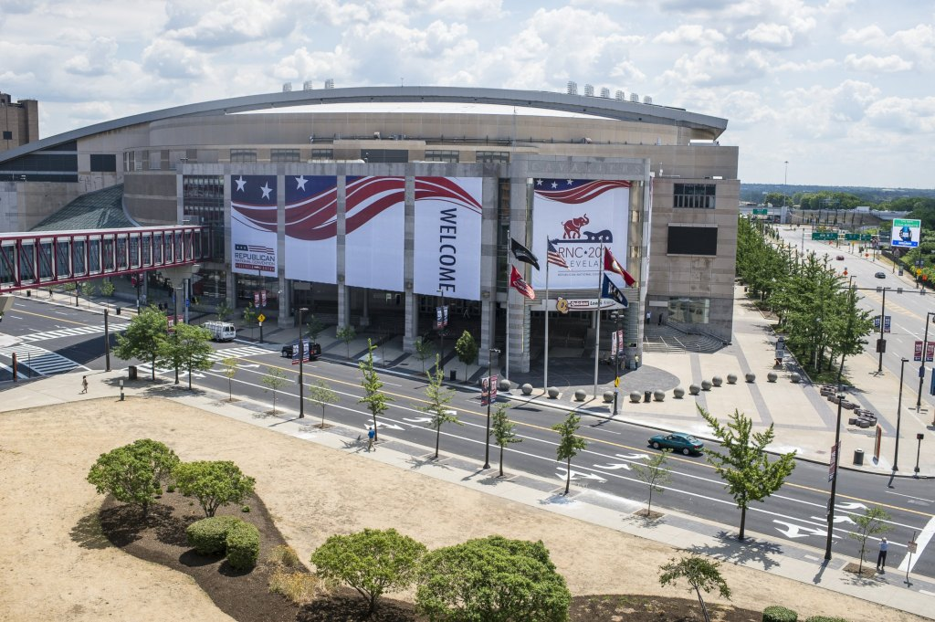 The Quicken Loans Arena in Cleveland.