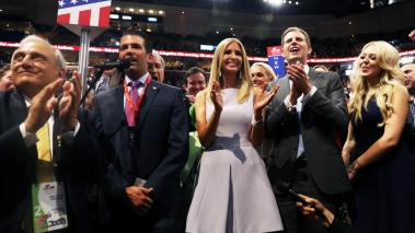 Pennsylvania passed so that New York, with Donald Trump, Jr. speaking, could put Donald Trump over the threshold in delegate count to become the official nominee.