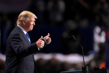 Donald J. Trump accepting the Republican nomination for the presidency.